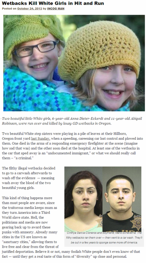 Little Girls Killed by Shit-Skins
